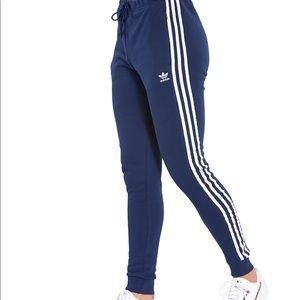 Adidas blue cuff track pants